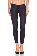 Exposed Zipper Capri in Seal