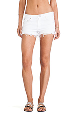 The Mila Short in Bright White Destroyed