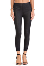 The Danny Legging in Coated Black