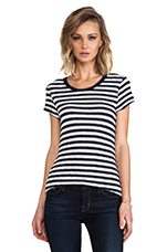 Striped Brando Tee in Indigo