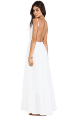 Backless Maxi Dress in White