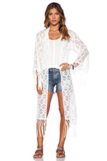 Love Lace Caftan in White