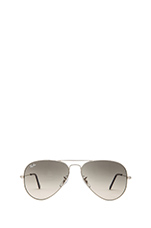 Aviator with Mirrored Lens in Silver