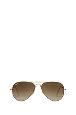 Folding Aviator in Arista/Crystal Brown Gradient