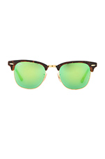 Clubmaster Flash Lenses in Tortoise & Green Flash