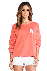 x REVOLVE Strokes Warm Up Fleece in Soft Red