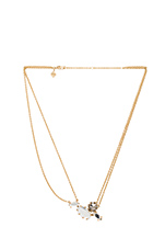 Starry Stoned Necklace in Gold, Mirror Crystal & Hematite