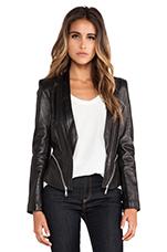 Zipped Hydra Jacket in Black