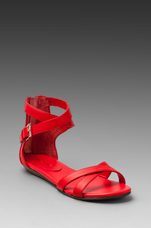 Bettina Sandal in Hot Red