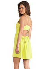 Bell Cut Out Cami Dress in Citron