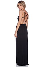 Jodie Multi Strap Gown in Onyx