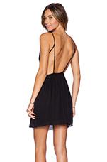 Marlen Backless Dress in Onyx
