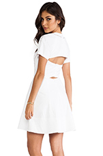 Poplin Cut Out Dress in White