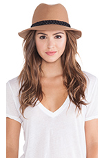 Rosy Fruits Fedora in Tan