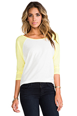 Label Ziggy Long Sleeve in Natural Lime Light