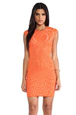 Mayan Lace Jacq Dress in Tangerine & Nude