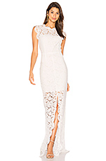 Estelle Cutout Back Maxi Dress in Pure White