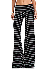 Moby Carol Stripe Pant in Black/White