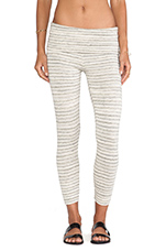 Crop Legging in Cream Stripe