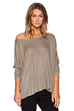 Omega Oversized Long Sleeve Top in Rock