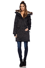 Everest Jacket with Rabbit and Asiatic Raccoon Fur in Black