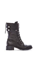 Darwin Boot in Black Combat Tumbled Leather