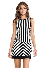 Mondrian Dress in Black & White