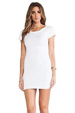 Boat Neck Dress in White
