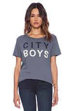 City Boys Loose Crew Neck in Grey Blue