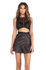 Peep Dress in Black