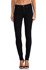 Slim Illusion Skinny w/ Squiggle Contour in Elasticity Black