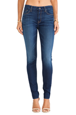The Hight Waisted Skinny in Slim Illusion Geneva Blue