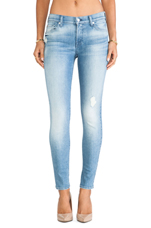 Knee Hole Ankle Skinny in Striking Light Indigo 2