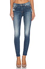 The Knee Hole Ankle Skinny in Slim Illusion Aggressive Atlas Blue