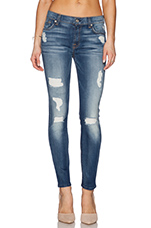Destroyed Ankle Skinny in Distressed Authentic Light 2
