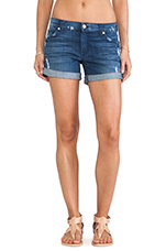 Boyfriend Short w/ Destroy in Authentic Medium Blue