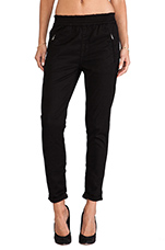 Soft Pant in Black Enzyme Twill
