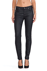 Mid Rise Ankle Skinny Jeather in Black