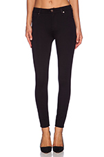 High Waisted Contour Ankle Skinny in Slim Illusion Black Double Knit