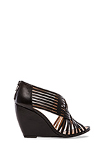 Get To Know Me Wedge Sandal in Black
