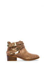 Scoundrel Bootie in Taupe Distressed