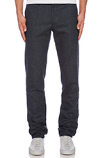 Slim Fit Suit Pant in Dark Blue Tweed