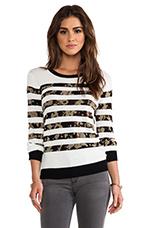 Stripe Pullover in Black Stripe