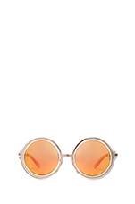 x REVOLVE Moon Shine Sunglasses in Lilac & Silver