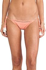 Tie Side Bikini Bottom in Peach