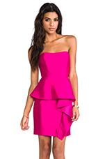 Silk Gazar Melania Dress in Fuschia