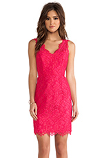 Lace Rose Dress in Watermelon