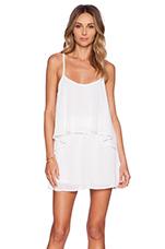 Dez Drape Dress in White Chiffon