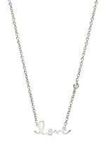 Love Necklace with Diamond in White