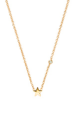 Star Necklace with Diamond in Yellow Gold